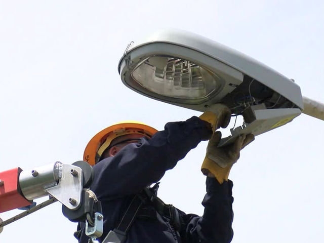 Mayor Joe Hogsett announces location of city's first new streetlights in…