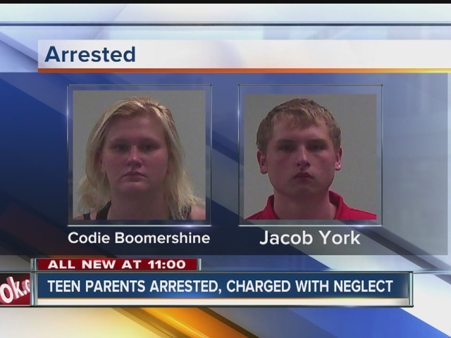 Teen parents arrested after 1-year-old found crawling in street