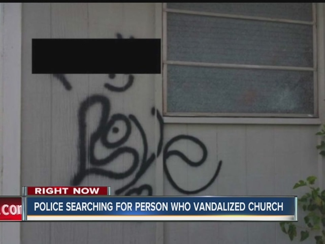 Church vandalized in Connersville, Indiana