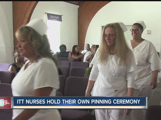 ITT Tech nursing students hold their own pinning ceremony