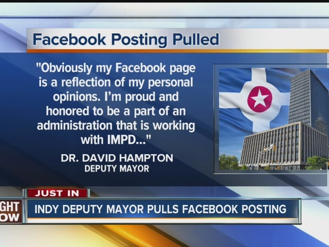 Indy deputy mayor pulls Facebook posting