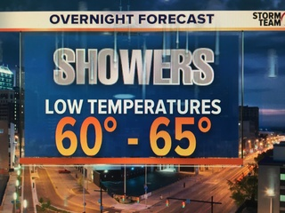 Rain tonight leads to cooler temps tomorrow