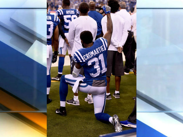 Cromartie's wife:Colts released him over protest