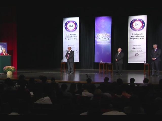 Indiana governor debate: First gubernatorial debate held at Lawrence…