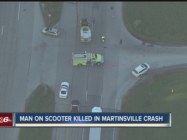 Scooter driver killed in crash in Martinsville