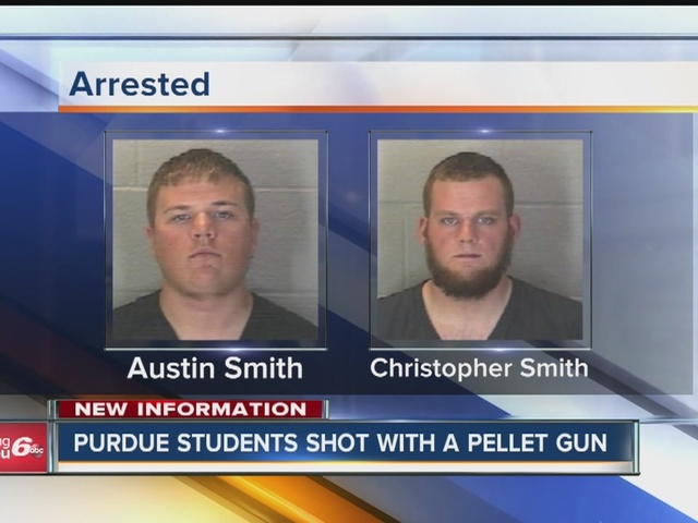 Two men accused of shooting Purdue University students with pellet gun