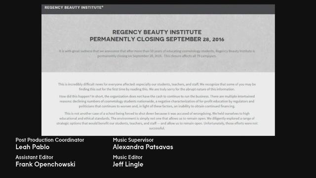 Regency Beauty Institute closing, including its Joliet location