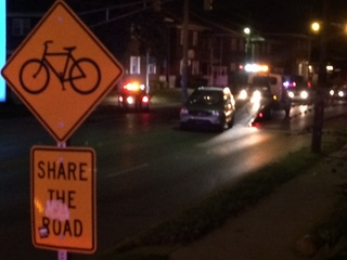 Bicyclist hit by vehicle, injured on south side