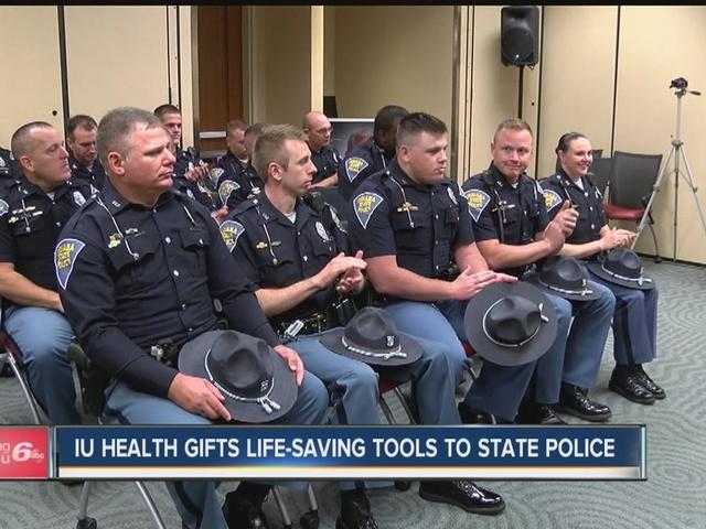 IU Health gifts life-saving tools to State Police