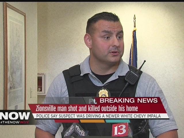 Man shot in driveway at Zionsville home