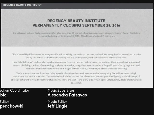Regency Beauty Institute closes all campuses