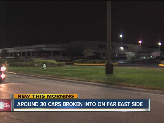 30 vehicles broken into at security company