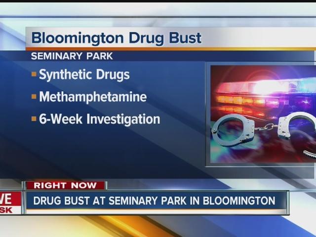 Drug bust at Bloomington park