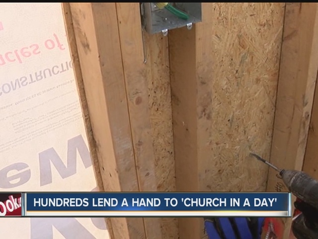 Hundreds lend a hand to 'Church in a day'