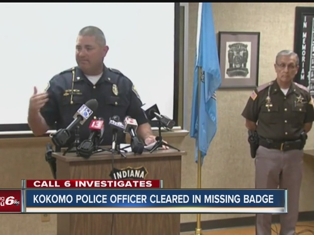 Kokomo police officer cleared in missing badge case