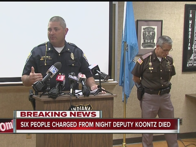 Six charged from night Deputy Koontz died