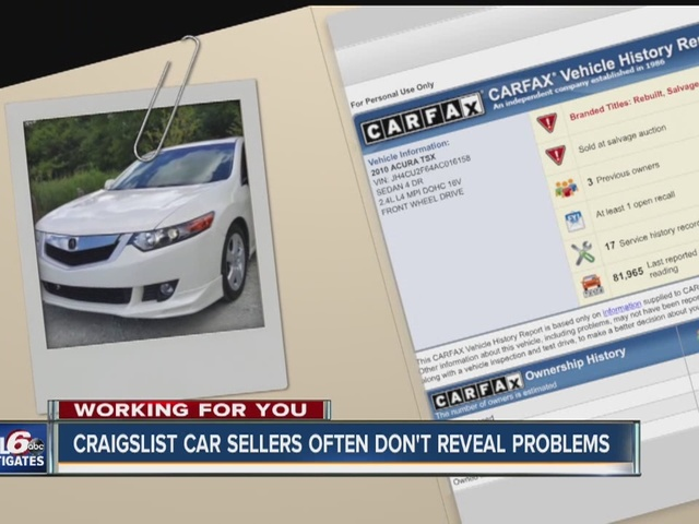 CALL6: Craigslist car sellers often don't reveal problems