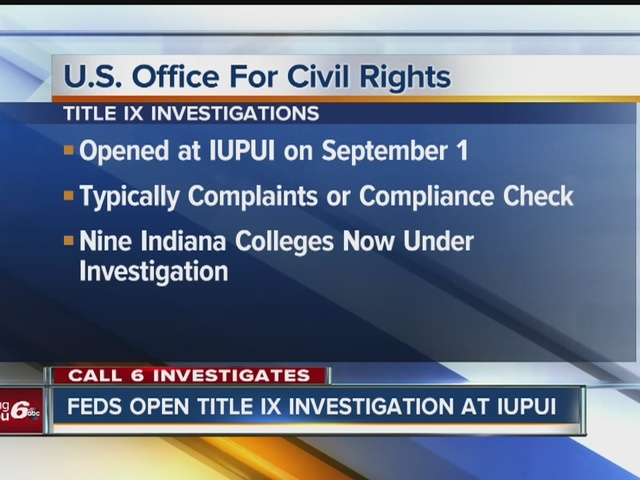 Federal Government opens Title IX investigation at IUPUI