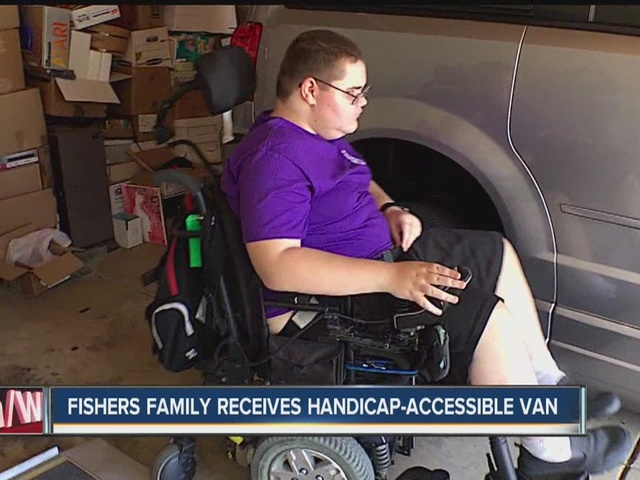 Fishers family receives handicapped-accessible van