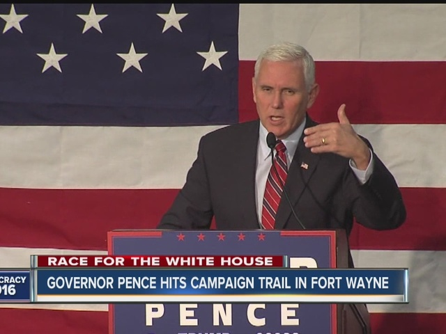 Governor Pence hits campaign trail in Fort Wayne