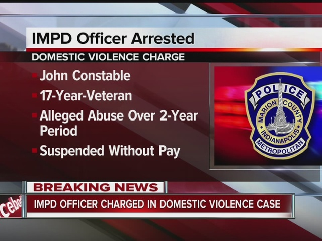 IMPD officer arrested on domestic violence charges