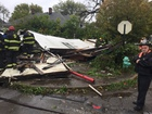 Former candy store building collapses