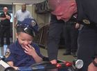 Southport PD gives 3-year-old police cruiser
