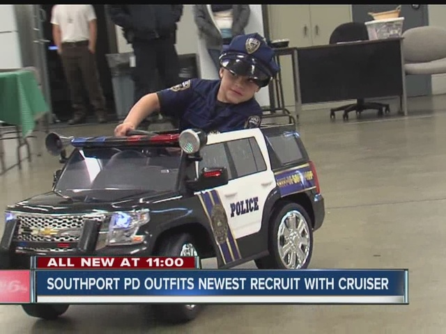 Southport police outfit newest recruit with cruiser