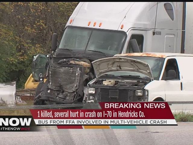 1 killed, 9 hurt in crash on I-70 in Hendricks County