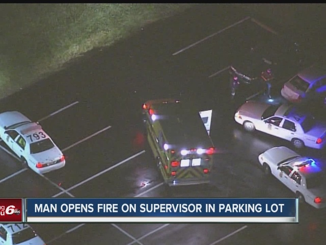 Man opens fire on supervisor in parking lot