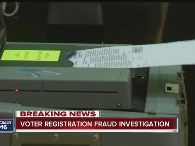 Voter registration fraud investigation