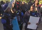 8-year-old Indy boy leads peace march