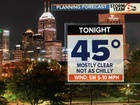 Clear, but not as chilly tonight