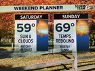 Weekend brings a warming trend