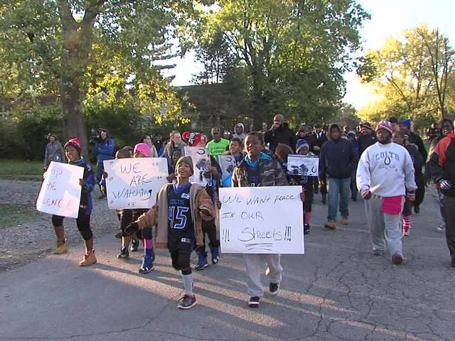 8-year-old Indianapolis boy leads peace march to end violence
