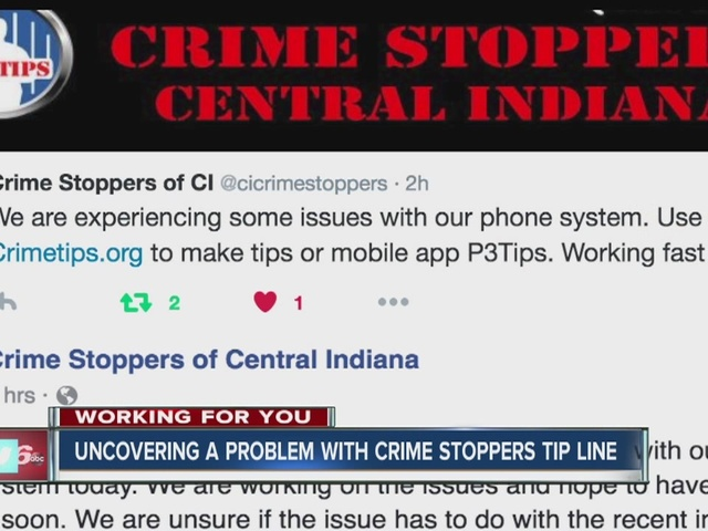 Crime Stoppers tip line is not working