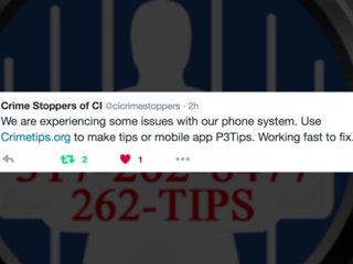 Problem with Crime Stoppers tip line fixed