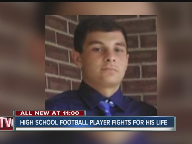 Brownsburg High School football player fights for his life
