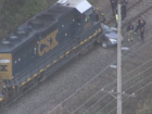 Woman hurt when car, train collide in Boone Co.