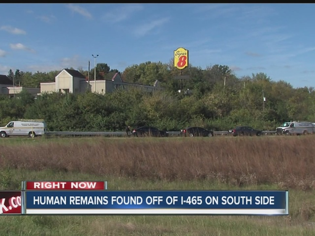 Human remains found off of I-465 on south side