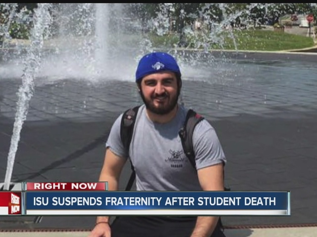 ISU suspends fraternity after student death