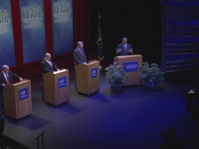 Candidates face off in final 2016 Indiana governor's debate