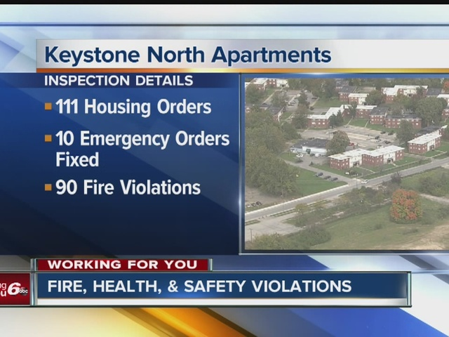 Fire, Health and safety violations found at apartment complex