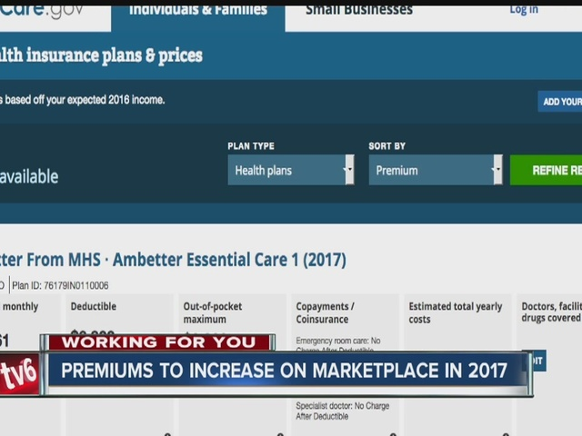Higher costs and fewer choices on health marketplace for 2017
