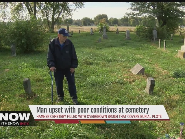 Man upset with poor conditions at cemetery