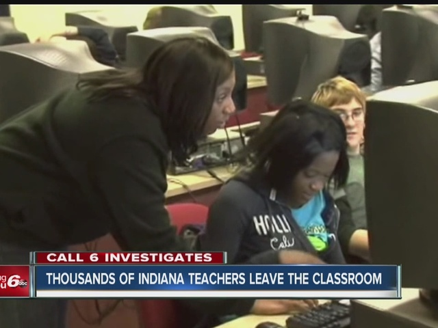 Thousands of Indiana teachers leave the classroom