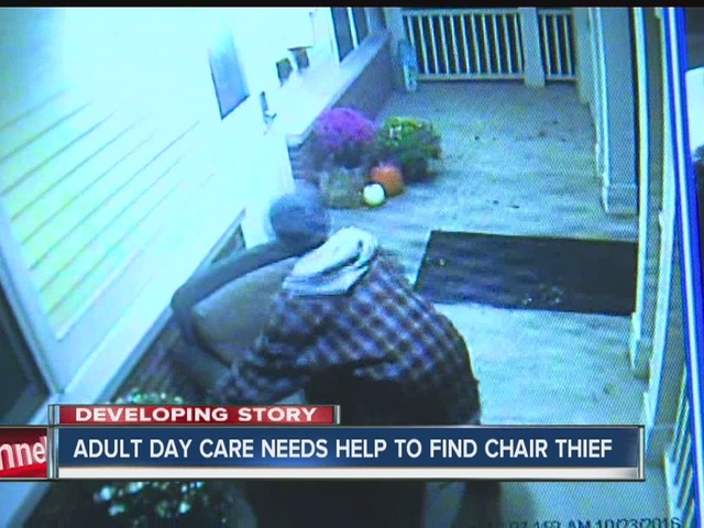 Adult day care needs help finding chair thief