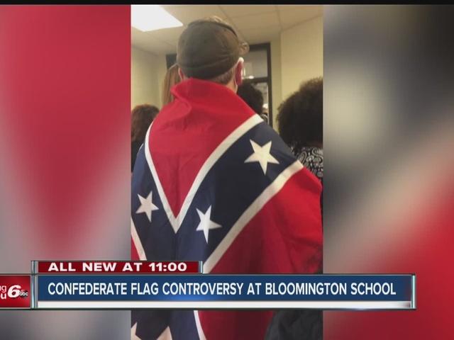 Bloomington high school bans confederate flag