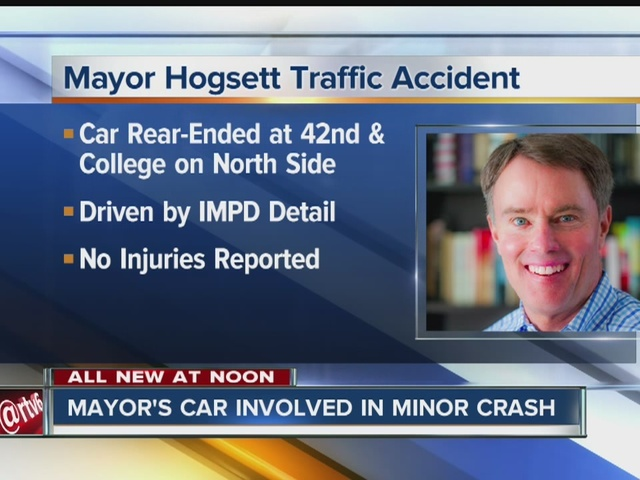 Mayor Joe Hogsett involved in minor crash
