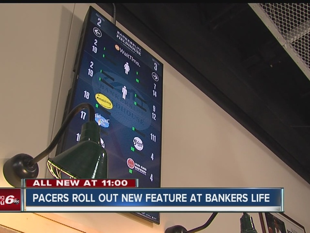 Pacers roll out new feature at Bankers life to help make waiting in the…
